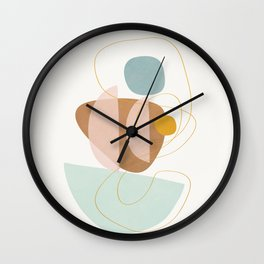 Soft Abstract Shapes 13 Wall Clock