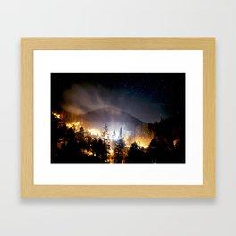 Stars Over Downieville, CA Framed Art Print
