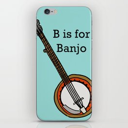 B is for Banjo, typed. iPhone Skin