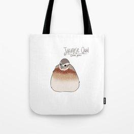 Japanese Quail Tote Bag