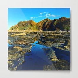 Blue Cliffs Metal Print