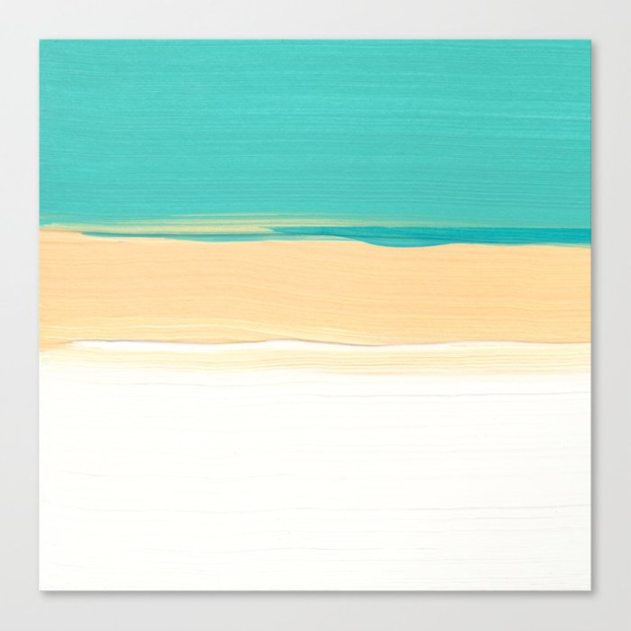 The ocean Part - Acrylic on Paper Canvas Print