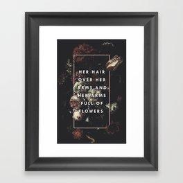 Arms Full Of Flowers Framed Art Print