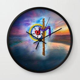 Lutheran Christian Scene Wall Clock