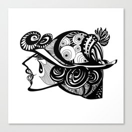 Someone wants a tattoo Canvas Print