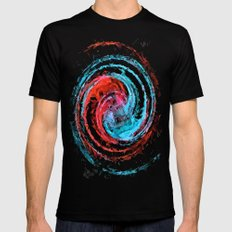 Life in a Spin Mens Fitted Tee Black LARGE
