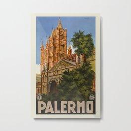 vintage Palermo Sicily Italian travel ad Metal Print