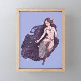 Aries Zodiac Sign - Purple Framed Mini Art Print