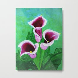 Kala Lilies  Metal Print