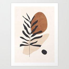 Abstract Art /Minimal Plant 12 Art Print