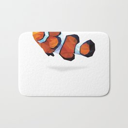 Geometric Abstract Clown Fish  Bath Mat