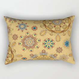 Floral pattern with stylized snowflakes. Christmas winter snow theme pattern. Rectangular Pillow