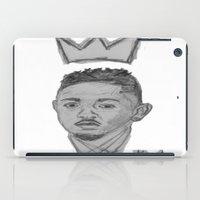 kendrick lamar iPad Cases featuring King Kendrick by Alonzo Mornin