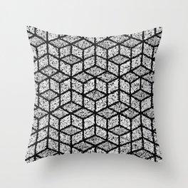Kenna (Black) Throw Pillow