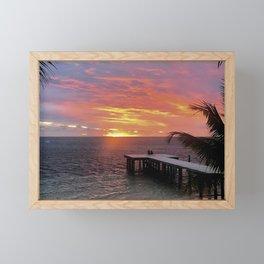 Fijian Sunset Framed Mini Art Print