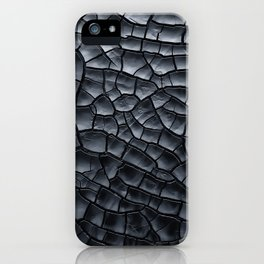 Gothic texture   Black and grey texture   Cracked design iPhone Case