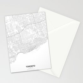Toronto, Canada Minimalist Map Stationery Cards