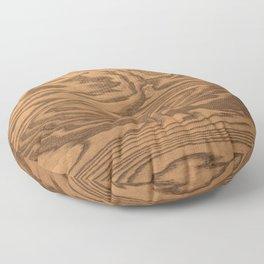 Wood Grain 5 Floor Pillow