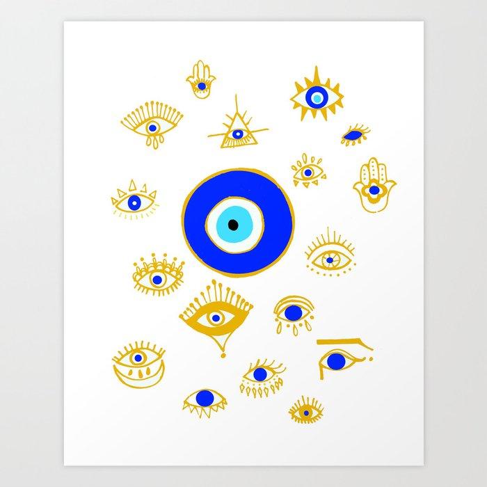 evil eye Kunstdrucke