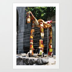 Can Giraffe Art Print