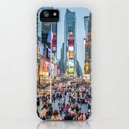 Times Square Tourists iPhone Case