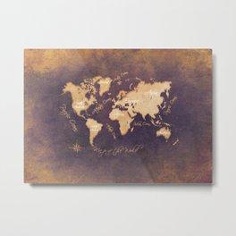 world map 144 mistery #worldmap #map Metal Print