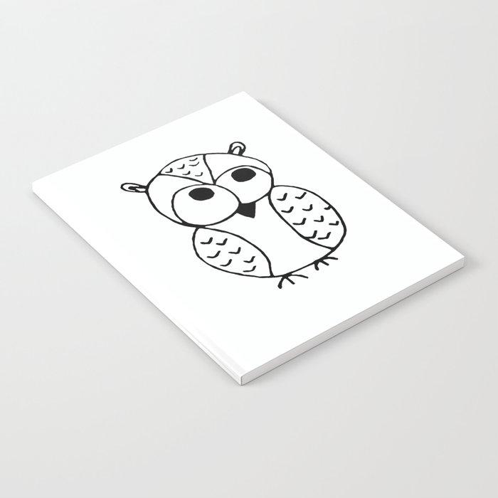 Cute Little Owl Print by Emma Freeman Designs Notebook
