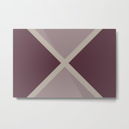 Purple Pink-Purple Taupe Gray Stripes X Pattern 2021 Color of the Year Epoch and Accent Shades Metal Print