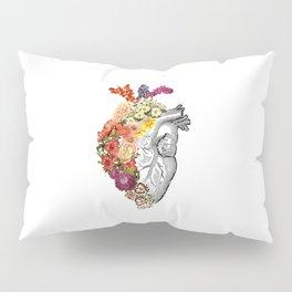 Flower Heart Spring White Pillow Sham