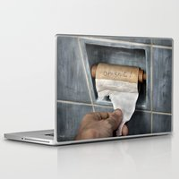 toilet Laptop & iPad Skins featuring the last thought by teddynash