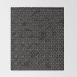 Dark Trellis Throw Blanket