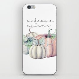 welcome autumn orange pumpkin iPhone Skin