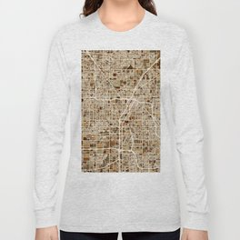 Las Vegas City Street Map Long Sleeve T-shirt