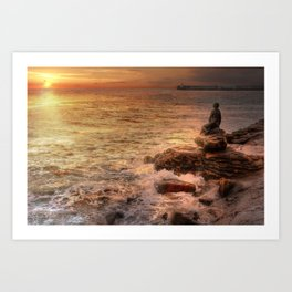 Folkestone At Sunrise Art Print