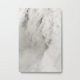 Cloudy Waterfalls Metal Print