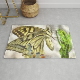 Butterfly Watercolor Rug