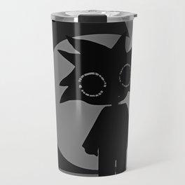 Black Wave Travel Mug