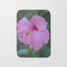 Pink Hibiscus Bath Mat