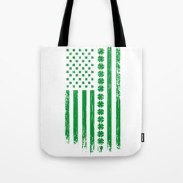 USA St. Patrick's Day Flag alcohol Gift Tote Bag