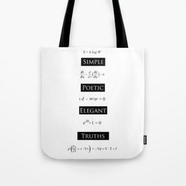 Simple Poetic Elegant Truths. Tote Bag