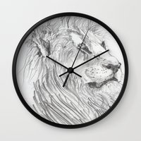 leon Wall Clocks featuring Leon by Amy Lawlor Creations