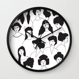 Ladies and antique hairstyles Wall Clock