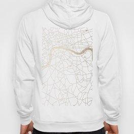 White on Gold London Street Map Hoody