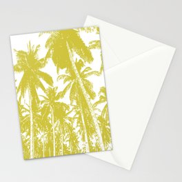 Palm Trees Design in Gold and White Stationery Cards