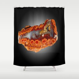 Cady Mountain Dots Plume Agate Shower Curtain