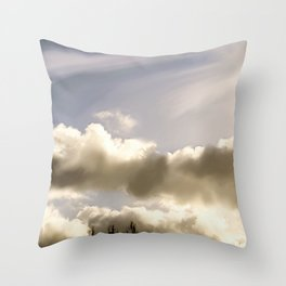 Clouds of Enfield Throw Pillow