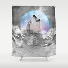 Maybe the Wolf Is In Love with the Moon Shower Curtain