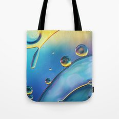 Ocean Blue Bubble Abstract Tote Bag