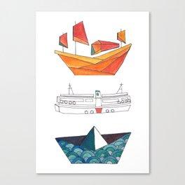 Hong Kong Boating Canvas Print