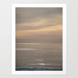 Shimmering Ocean Sunset Art Print